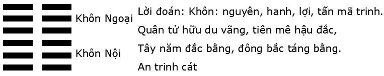 Giải mã ý nghĩa quẻ Kinh Dịch: Quẻ số 2 – quẻ Thuần Khôn (坤 kūn)