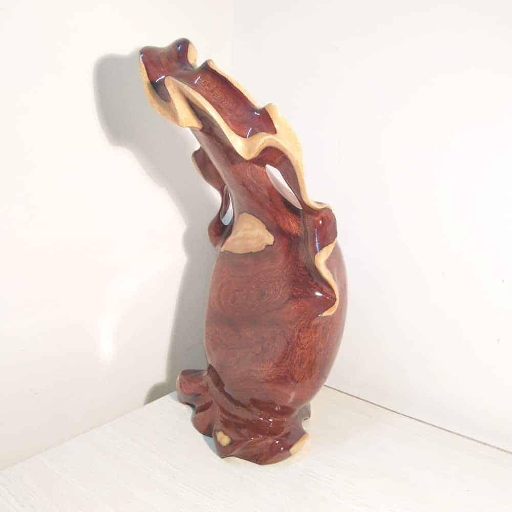 Bình phay nghệ thuật tài lộc gỗ cẩm, thủy tùng, gỗ hương, trắc Việt - 10