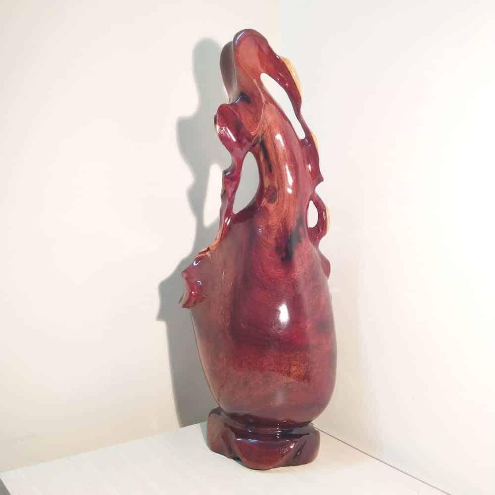 Bình phay nghệ thuật tài lộc gỗ cẩm, thủy tùng, gỗ hương, trắc Việt - 11