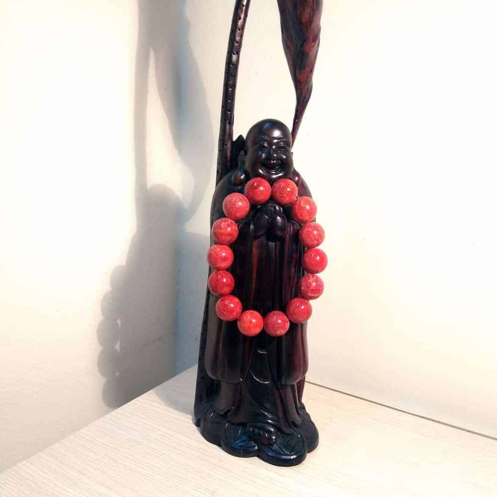 Vòng hạt đeo tay nam/nữ phong thủy -sức khỏe tài lộc từ  đen/đỏ - 2