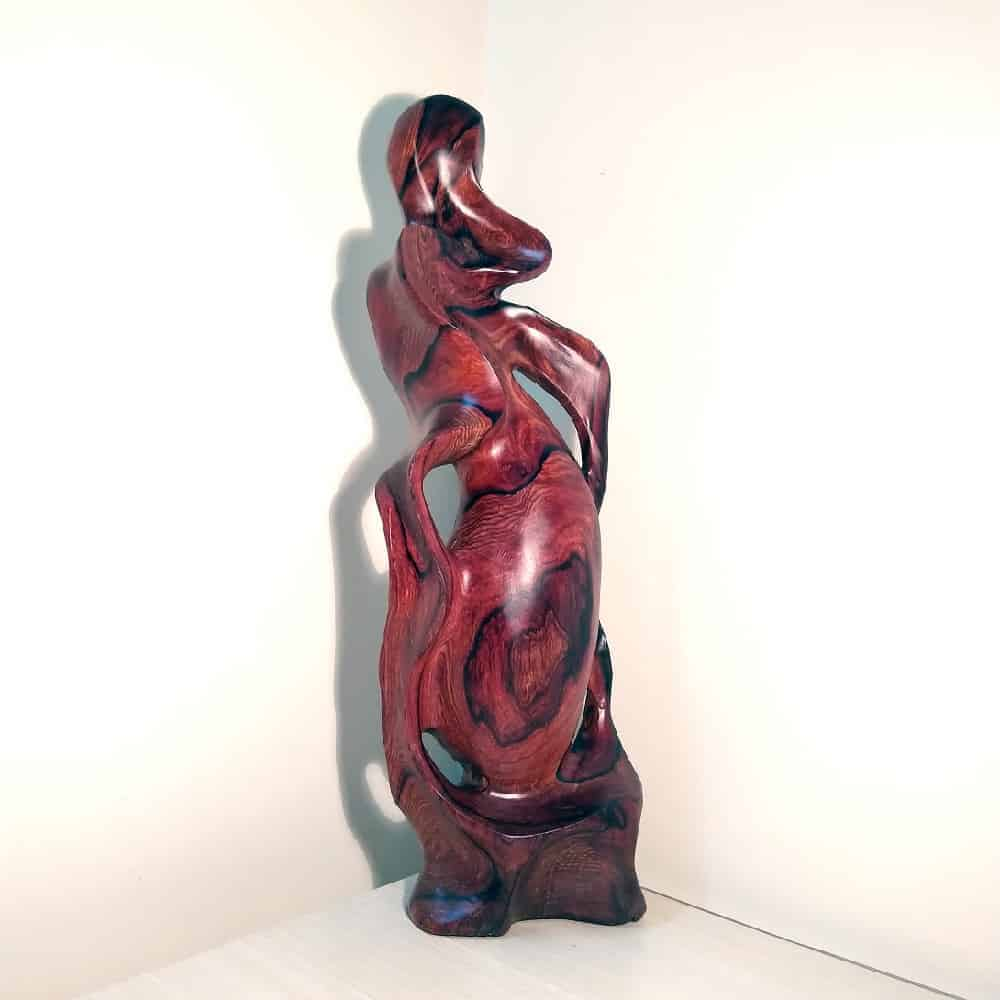 Bình phay nghệ thuật tài lộc gỗ cẩm, thủy tùng, gỗ hương, trắc Việt - 8