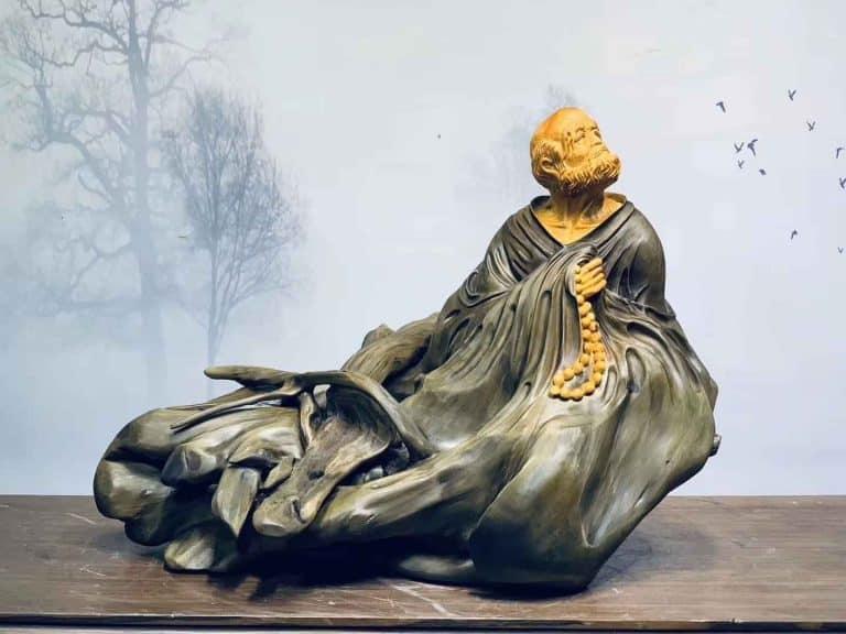 Tổng hợp tượng đạt ma tổ sư chưng phong thủy được hoàn thiện bởi nghệ nhân