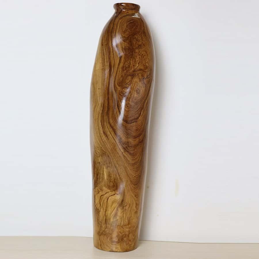 Bình nghệ thuật gỗ măn có nu vân đẹp 56cm